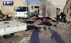 Sīrijas ķīmiskais uzbrukums ir Krievijas neveiksmes rezultāts, norāda Tilersons
