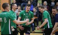 RTU/'Robežsardze' volejbolisti nonāk uzvaras attālumā līdz Latvijas čempionu titulam