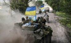Lisičanskā pacelts Ukrainas karogs