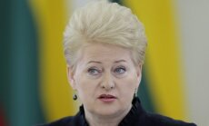 Grībauskaite: Ukrainu nedrīkst nodot ekonomisku interešu dēļ