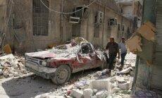 Vairāk nekā 400 civiliedzīvotāju pametuši Alepo austrumdaļu