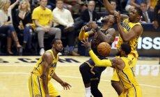 'Cavaliers' veic fantastisku atspēlēšanos un izcīna trešo uzvaru sērijā pret 'Pacers'