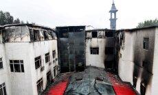 Harbinā ugunsgrēkā viesnīcā iet bojā 18 cilvēki