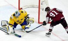 Latvijas hokeja izlase nākamgad spēlēs pret 2018. gada finālistēm Zviedriju un Šveici