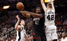 Bertāns neglābj 'Spurs' no smagas neveiksmes NBA 'play-off' otrās kārtas ievadā