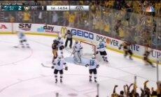 'Sharks' izbraukumā pieveic 'Penguins' un pagarina Stenlija kausa finālsēriju