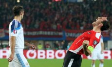 EČ kvalifikācijas spēlē Krievija zaudē Austrijai; Igaunijas futbolisti nespēj uzvarēt Sanmarīno