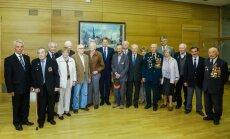 Мэр Риги принял в Ратуше ветеранов Латышского стрелкового корпуса