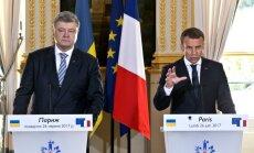 Francija neatzīs Krimas aneksiju, apstiprina Makrons