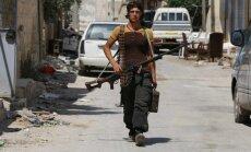 ASV sāk uzlidojumus 'Islāma valsts' kaujiniekiem arī Sīrijā (plkst.11:30)