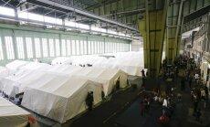 Vācijas īpašā SEK policijas vienība ieņēmusi Tempelhofas lidostas angāru