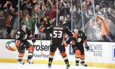 The Anaheim Ducks winning goal Corey Perry