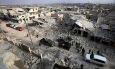 Karte: Kā Sīrijas armija no opozīcijas atkarojusi Alepo rajonus