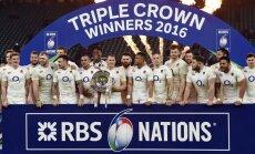 Anglijas regbisti nodrošina uzvaru Sešu nāciju turnīrā un pietuvojas 'Grand Slam'