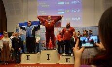 Krūze ar jaunu Eiropas rekordu uzvar Eiropas čempionātā klasiskajā spēka trīscīņā