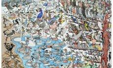 Gleznas, ko radījuši ar autismu sirgstoši cilvēki