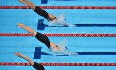 Peldētāja Maļuka labo sev piederošo Latvijas rekordu 100 metru brīvā stila distancē