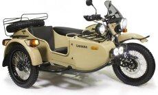 'Ural' divu riteņu piedziņas motocikls 'Sahara' versijā