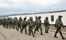 Krimai līdzās esošajā Arabata strēlē izsēžas Krievijas karavīri