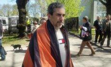 В Парке Победы Линдермана попросили свернуть Георгиевский флаг