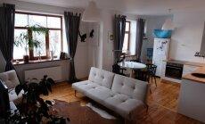 No necilības līdz šedevram – omulīgi izremontēts studio tipa dzīvoklis Rīgā
