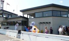 Atklāta Biķernieku trases atjaunotā starta - finiša māja