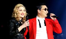 Arī Madonna beidzot danco 'Gangnam Style'