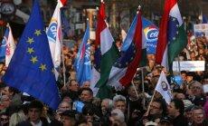 Tūkstošiem ungāru protestē pret slepeno kodoldarījumu ar Krieviju