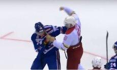 Video: Pārbaudes spēlē sirsnīgi izkaujas SKA un 'Kuņluņ Red Star' uzbrucēji