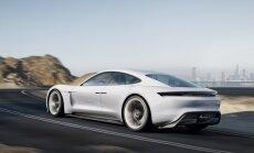 'Porsche' parāda savu versiju par 'Tesla' elektromobili