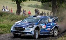 Avārija igauņu pilotam Tanakam liedz cīnīties par uzvaru WRC posmā Polijā