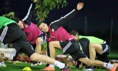 Foto: Latvijas futbolisti Spānijā sāk gatavoties spēlēm pret Slovākiju un Gibraltāru
