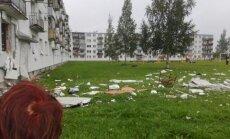 Gāzes eksplozija Alūksnē: bez mājām joprojām 14 ģimenes