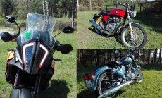 Sveiciens no Indijas un ašais 'nemiernieks': Latvijas 'Gada motocikla' testi