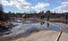 На месте пожара в Слоке обнаружены опасные отходы