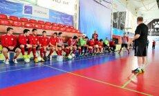 Foto: Latvijas telpu futbolisti gatavojas Eiropas čempionāta pamatturnīra spēlēm