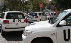 ANO inspektori turpina darbu Damaskā par spīti snaiperu apšaudei