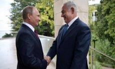 Netanjahu brīdina Putinu: kur zaudē 'Daesh', ienāk Irāna