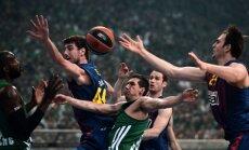'Barcelona' uzvar Grieķijā un pagarina Eirolīgas ceturtdaļfināla sēriju