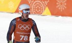 Kalnu slēpotājs Zvejnieks slalomā riskējis, cerot uz augstāku vietu