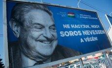 Ungārija izbeigs pretrunīgo reklāmas kampaņu pret Sorosu