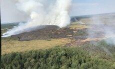 Purva ugunsgrēks Ramatas pagastā, visticamāk, izcēlies neuzmanīgas rīcības ar uguni dēļ