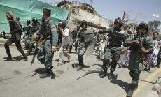 Kabulā izcēlušās policijas un protestētāju sadursmes