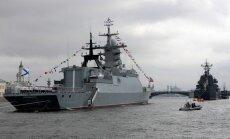 Pie valsts ārējām robežām manīti divi Krievijas bruņoto spēku kuģi