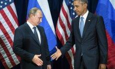 Obama un Putins sarunās par Sīriju nepārvar domstarpības par Asadu