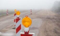 Remontdarbu laikā uz Jelgavas šosejas pārvadiem samazināts braukšanas ātrums