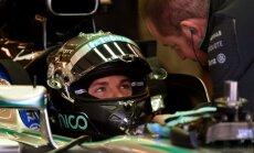 Rosbergs ātrākais abās Brazīlijas 'Grand Prix' treniņbraucienu sesijās