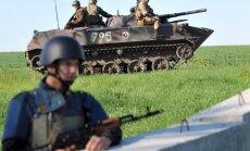 Pie Slovjanskas iznīcināti četri separātistu kontrolpunkti