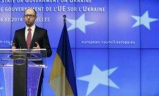 Ukrainu mēs aizstāvēsim visiem spēkiem, paziņo Jaceņuks