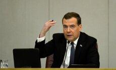 Krievija gatava jaunām Rietumu sankcijām, paziņo Medvedevs